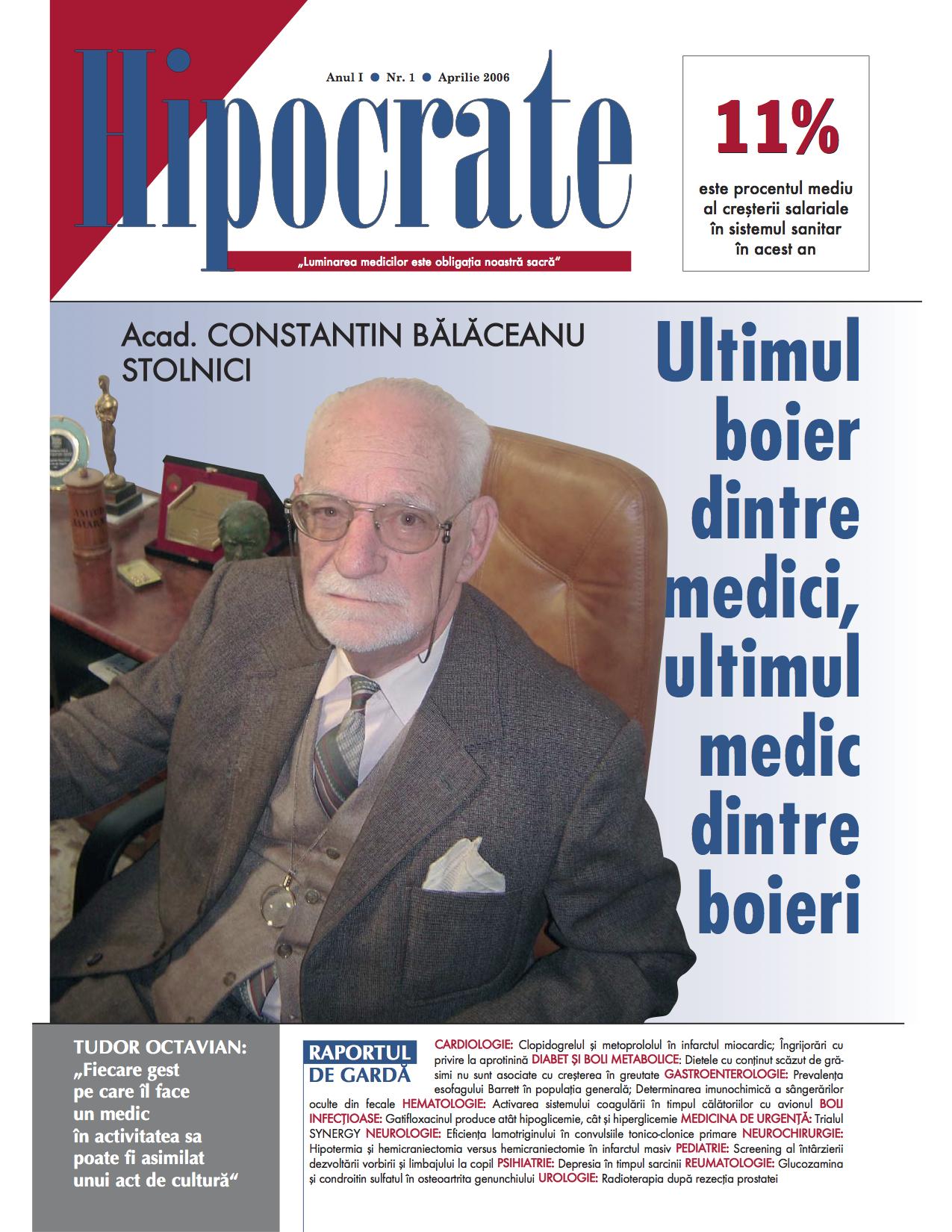 Coperta revista Hipocrate aprilie 2006