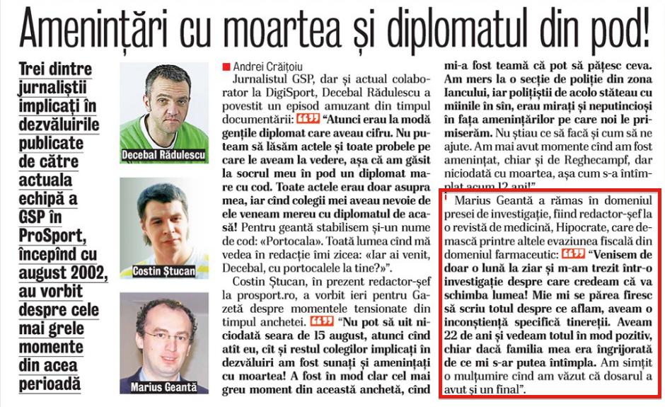 Captură din Gazeta Sporturilor de astăzi, 26 august. Ziua de după sentința definitivă în dosarul Loteria
